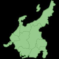 中部地方の地図イラスト画像