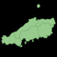 中国地方の地図イラスト画像