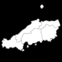 中国地方の白地図イラスト画像