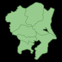 関東地方の地図イラスト画像