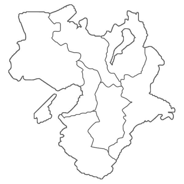 近畿地方の白地図イラスト画像