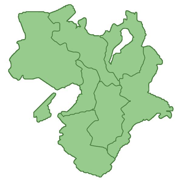 近畿地方の地図イラスト画像