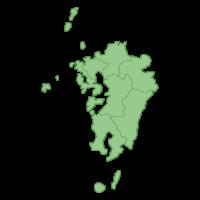 九州地方の地図イラスト画像