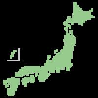 日本地図のドットイラスト画像