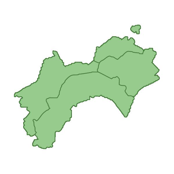 四国地方の地図イラスト画像
