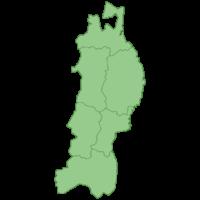 東北地方の地図イラスト画像