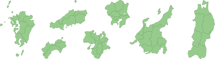地方の地図イラスト画像