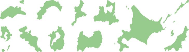 都道府県の地図イラスト画像